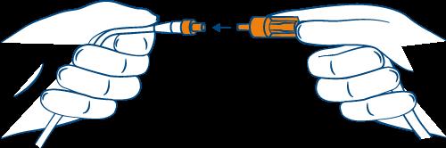 Zeichnung Spülschlauch konnektieren