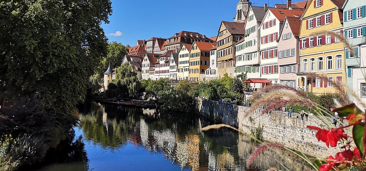 Die Neckarfront in Tübingen